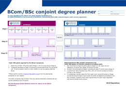 BCom/BSc conjoint degree planner