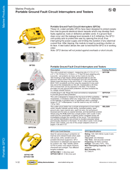 Portable GFCI Marine Products Portable Ground Fault Circuit