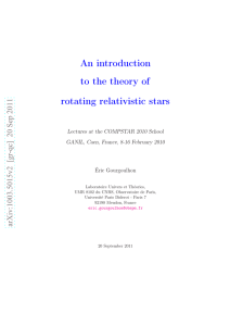 An introduction to the theory of rotating relativistic stars