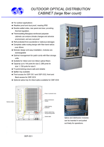 OUTDOOR OPTICAL DISTRIBUTION CABINET (large fiber count)