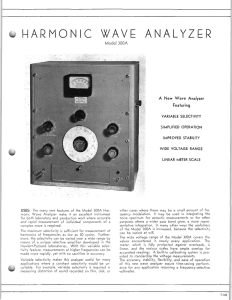HARMONIC WAVE ANALYZER