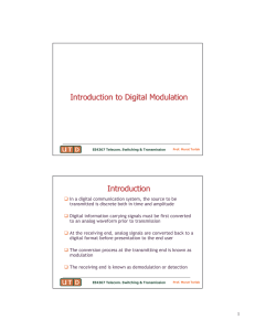 Introduction to Digital Modulation Introduction