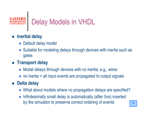 Delay Models in VHDL