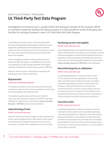 UL Third-Party Test Data Program