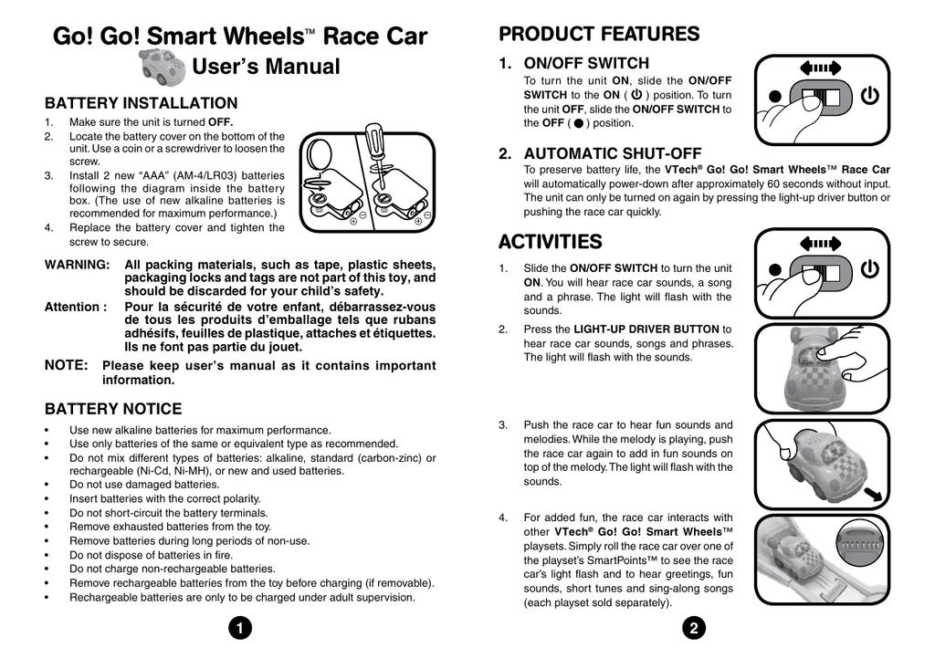 [SCHEMATICS_4LK]  Go! Go! Smart Wheels™ Race Car | Aaa Battery Box Wiring Diagram 4 |  | Studylib