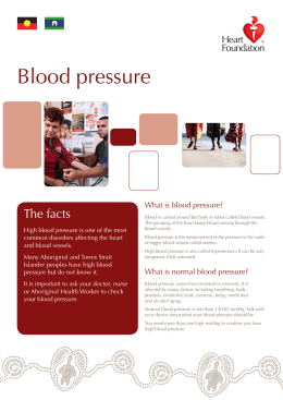 Blood pressure - The Heart Foundation