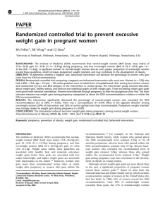 PAPER Randomized controlled trial to prevent excessive