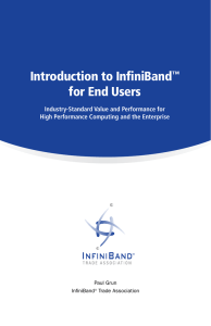 Introduction to InfiniBand™ for End Users
