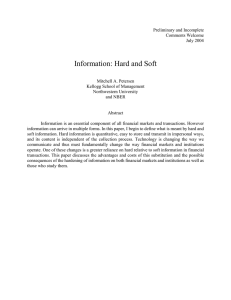 Information: Hard and Soft - Kellogg School of Management