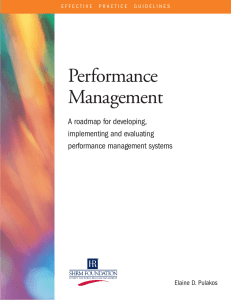 Performance Management. performance