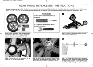 l•warning: rear wheel replacement instructions