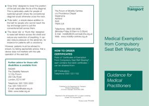 Medical exemption from compulsory seat belt wearing