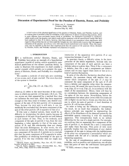 Discussion of Experimental Proof for the Paradox
