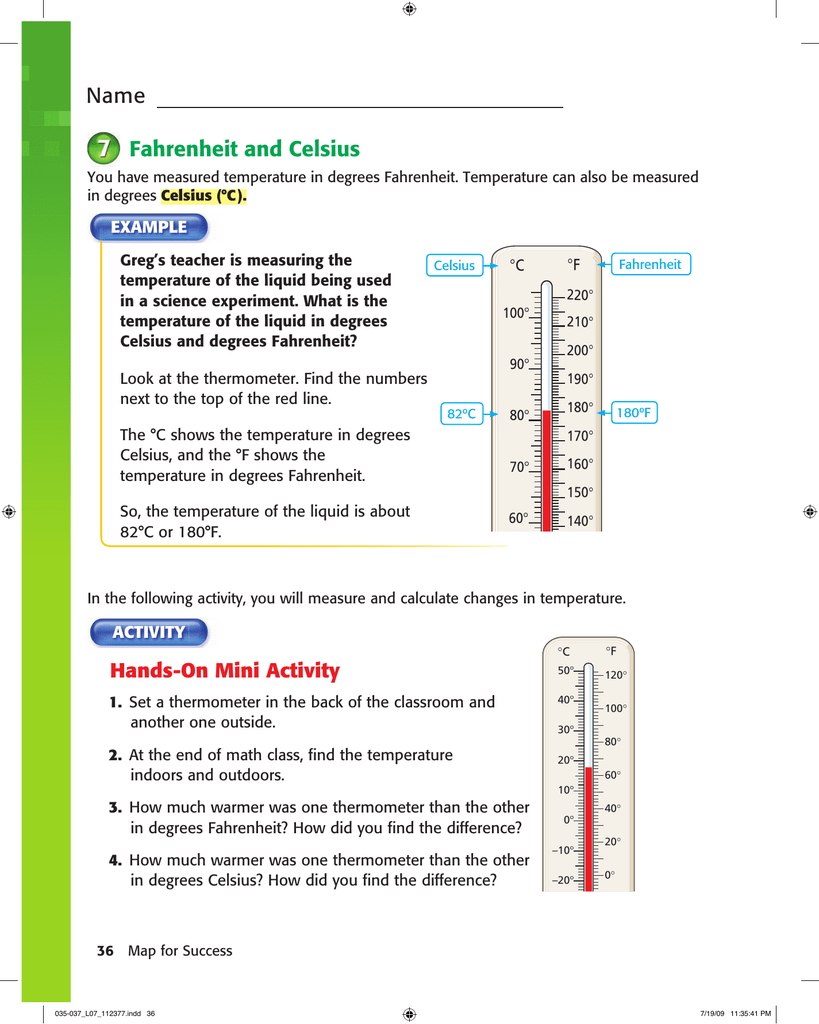 Name Fahrenheit And Celsius
