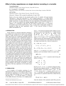 251. Effect of Stray Capacitances on Single Electron Tunneling in a
