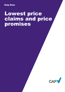 Lowest price claims and promises