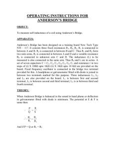 Experiment meter bridge