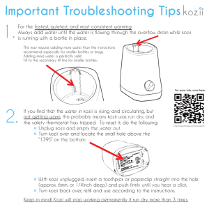 Kozii ™ Trouble Shoot
