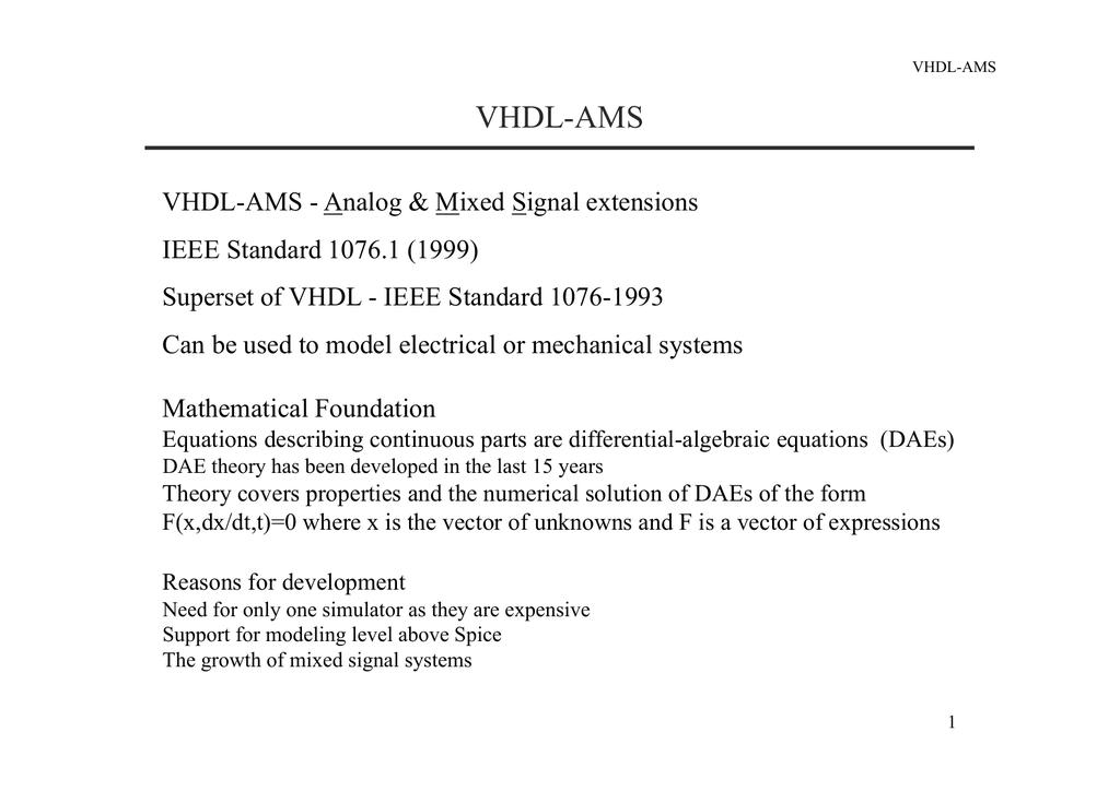 VHDL-AMS