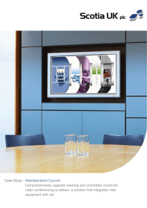 Comprehensively upgrade meeting and committee rooms for video