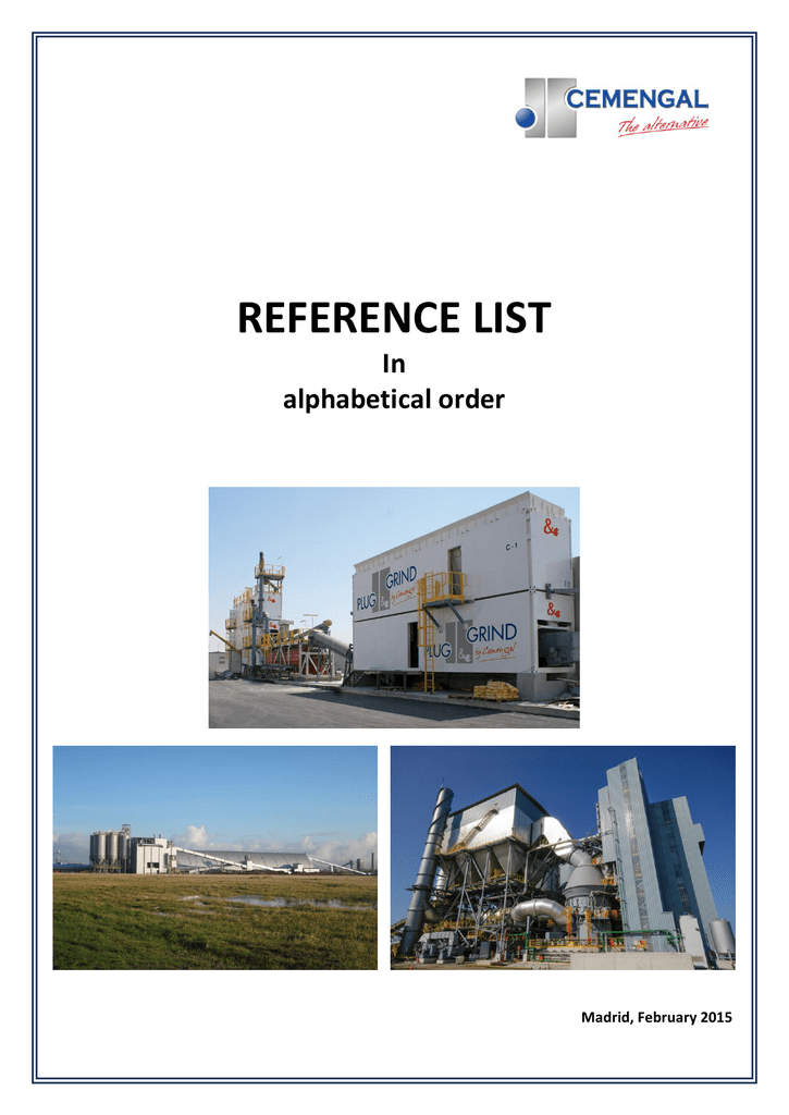 List of references  CEMENGAL