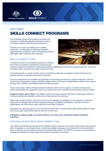 SKILLS CONNECT PROGRAMS