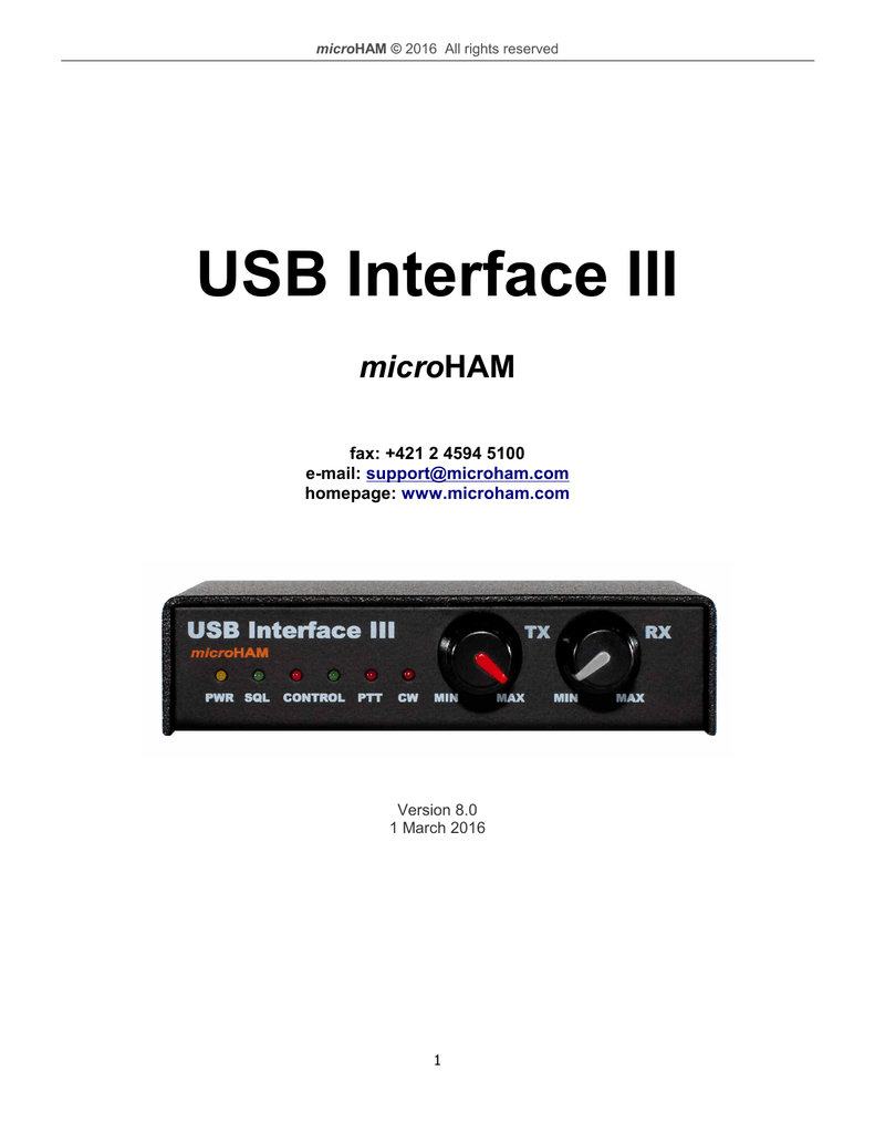 MICROHAM USB INTERFACE III DRIVERS PC
