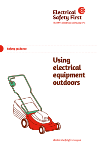 Using electrical equipment outdoors