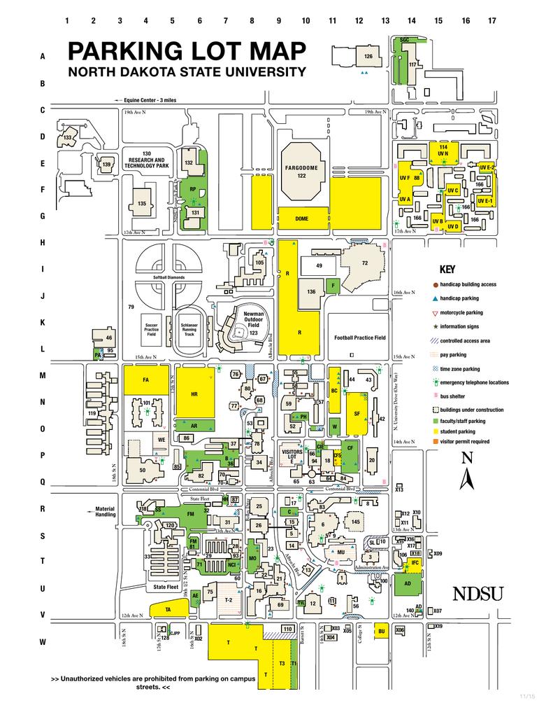 parking lot map   North Dakota State University