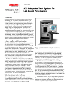 ACS Integrated Test System for Lab-Based Automation