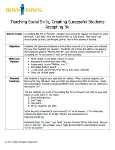 Teaching Social Skills, Creating Successful Students