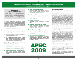 24th Annual IEEE Applied Power Electronics Conference and