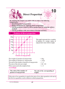 Direct Proportion - e