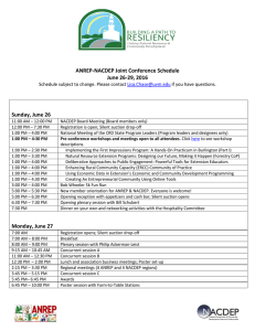 ANREP-NACDEP Joint Conference Schedule June 26