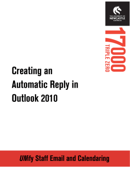 Creating an Automatic Reply in Outlook 2010