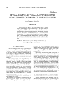 optimal control of parallel hybrid electric vehicles based on theory of
