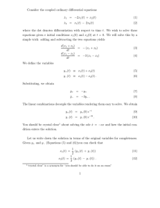 Consider the coupled ordinary differential equations ˙x1 = −2x 1(t) +