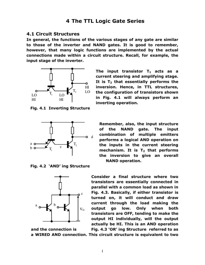 4 The Ttl Logic Gate Series Nand Circuits 018199746 1 291d6efca7556ffce3b89939e58bb773