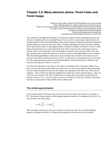Chapter 3.5, Many-electron atoms: Fermi holes and Fermi heaps