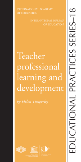 Teacher professional learning and development