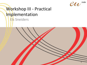 Workshop Practical Implementation