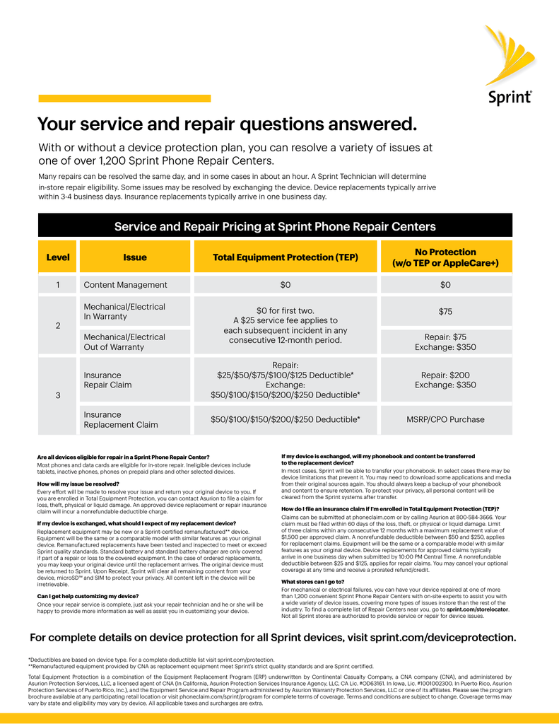 Your service and repair questions answered