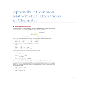 Appendix I: Common Mathematical Operations in Chemistry
