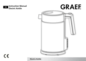 Instruction Manual Electric Kettle
