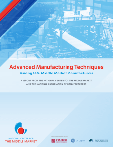 implementation of advanced manufacturing techniques and
