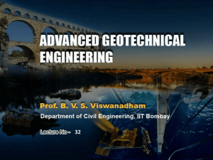 Prof. B V S Viswanadham, Department of Civil Engineering, IIT