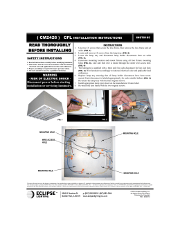 Disconnect power before starting installation or servicing luminaire.