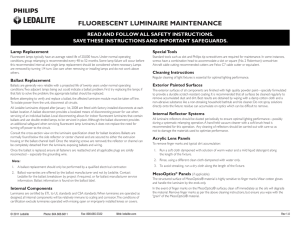 fluorescent luminaire maintenance