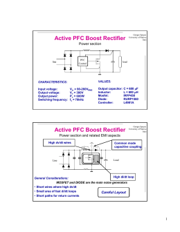 Active PFC Boost Rectifier