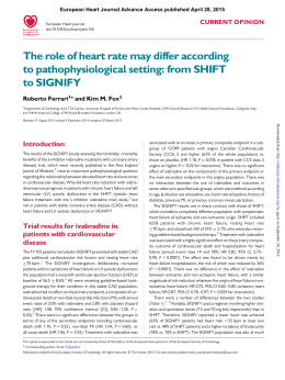 The role of heart rate may differ according to pathophysiological